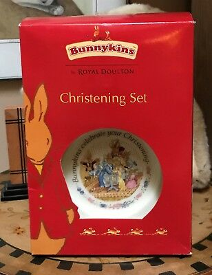 Royal Doulton Bunnykins 2 Piece Christening Set - Cup and Plate - New in Box