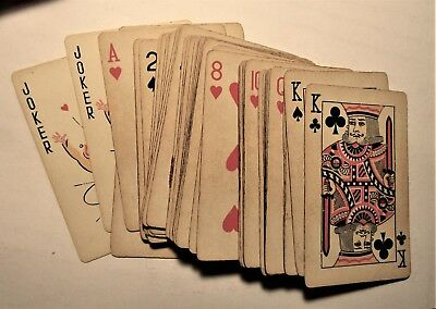 FALSTAFF beer 1950's FULL DECK of PLAYING CARDS jokers and box