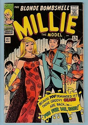 MILLIE THE MODEL # 137 GVG (3.0) 2nd GROOVY GEARS APP- MARVEL ROMANCE_CENTS_1966