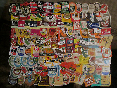 Approx. 120 BRITISH BREWERY BOTTLE LABELS. All Different Mostly From 1950s/60s.