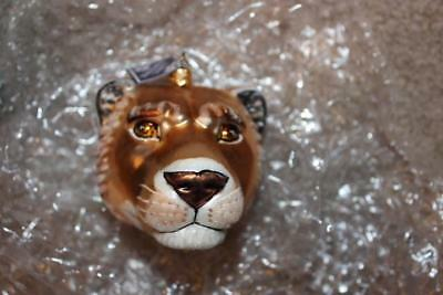 Slavic Treasures Glass Blown Lioness Lion Christmas Ornament Large New In Box