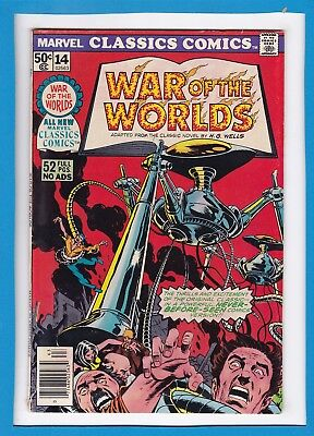 "Marvel Classics Comics #14_1976_Very Good_""war Of The Worlds""_Bronze Age Marvel!"