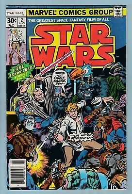 Star Wars # 2 Vfn (8.0)  Marvel- 1977 - First Print- High Grade Cents- New Movie