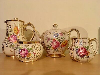 Sadler Floral 4 Piece Vintage Tea Set
