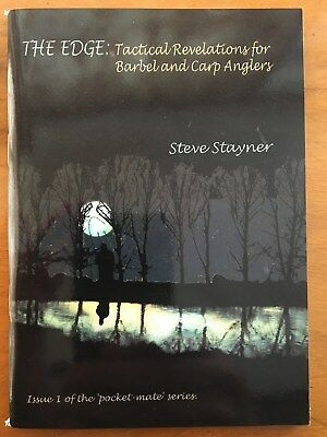 SIGNED- THE EDGE by STEVE STAYNER 1st 2006 VGC Barbel Carp Tactics Fishing Book