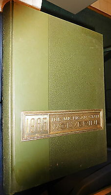1965 Michigan State College University Wolverine East Lansing Yearbook Annual