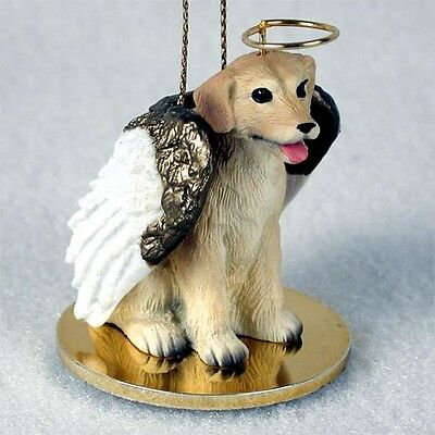 Labrador Retriever Yellow Lab Dog ANGEL Tiny One Ornament Figurine Statue