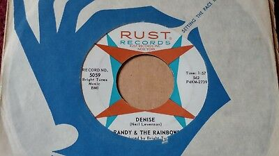 45 RPM Randy & Rainbows RUST 5059 Denise / Come back DOO WOP VG+