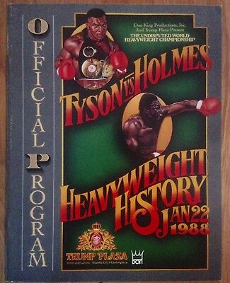 Beautiful Rare On Site Mike Tyson Vs Larry Holmes Programme 1988!!
