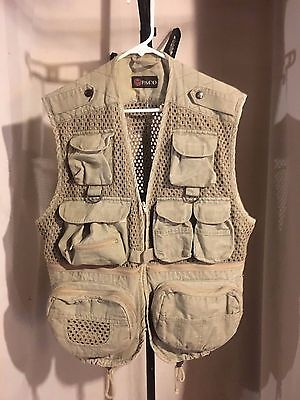 Paco Fishing Photographers Photography Hiking Trail Vest Designed in Italy M/L