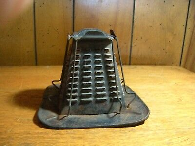 Primitive Antique Tin Stove Top Toaster Rustic Cabin Country Kitchen ca. 1900 #1