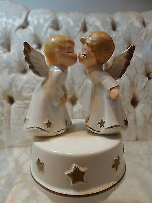 "Lefton  Christmas Angels Music Box figurine plays ""Ave Maria"" #8267"