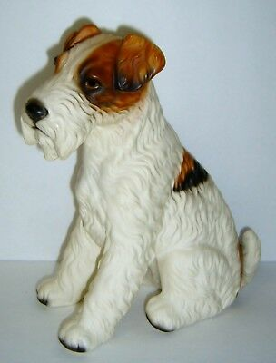 "Fabulous Vintage 9"" Fox Terrier Dog Figurine - Numbered"