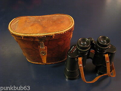Vintage Yamatar Binoculars + Case 8 X 40 Flyweight Made in Japan