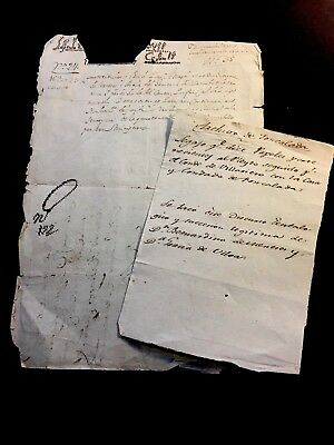 LOT OF ANTIQUE NOTES IN SPANISH 1600s