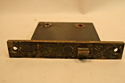 Antique Victorian Aesthetic Period Nashua Mortise Door Lock Cast Iron Bronze