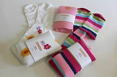 Gymboree Tights Size 10 12 LOT Pink Sunflowers Striped Retail $38.85