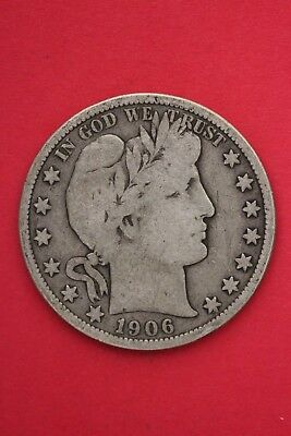 1906 S Barber Liberty Half Dollar Exact Coin Pictured Flat Rate Shipping OCE309
