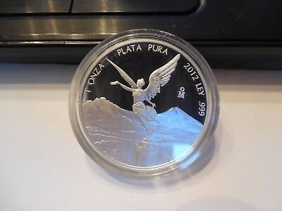 Mexico 2012 1 Troy oz .999 fine Silver Libertad Proof Frosty Mirrored!