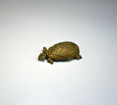 Old Lost Wax Bronze Gold Weight from the Ashanti : A Tortoise or Turtle bronze