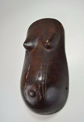 Makonde Body mask, Pregnant female Form, African Art