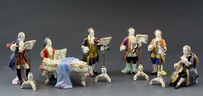 11 Piece Set of German Volkstedt Porcelain Band Musican Figurines C1915 No Res