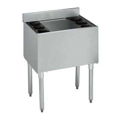 """Underbar Ice Bin 18""""x24"""" - 7 Circuit Cold Plate & Bottle Holders - NSF Approved"""