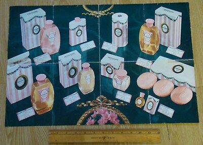 1950s AVON Cotillion dealer's Ad 64th Anniversary perfume powder soap lotion