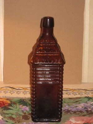 1860 St. Drake's Plantation Bitters Bottle Patented 1862  6 Log