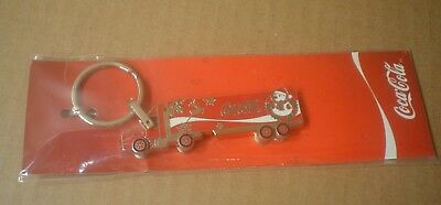 Coca-Cola Christmas Delivery Truck Key Ring ~ Metal Semi Truck ~ New