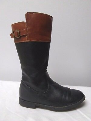 The CHILDREN'S PLACE Girls Size 2 Black Brown Two-Toned Tall Riding Boots
