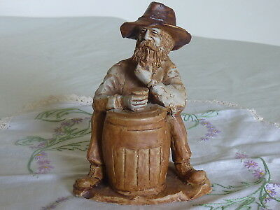 Vintage Swagman Bushman Foxhill Farm Pottery Swagman Smoking A Pipe Beer In Hand