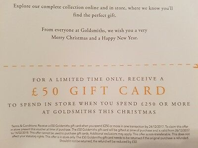 £50 Gift Card for goldsmiths