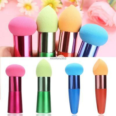 Makeup Foundation Sponge Blender Puff Flawless Powder Smooth Beauty with Handle