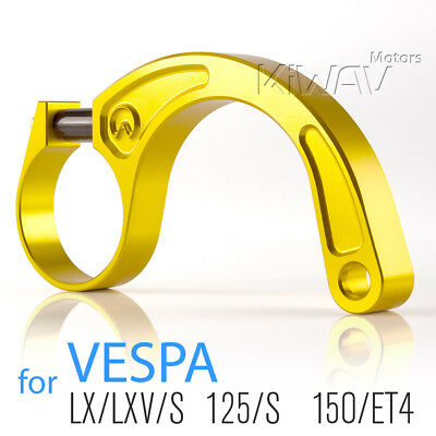 CNC aluminum alloy 6061 stabilizer bar fix lean bracket gold for Vespa LX LXV