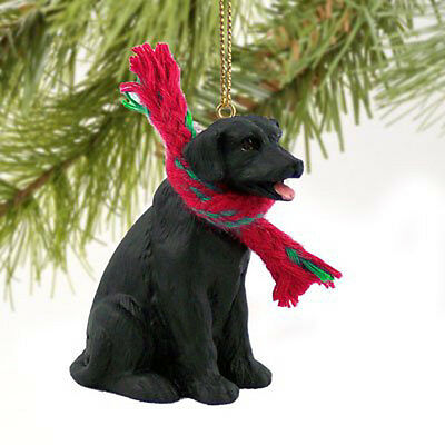 Labrador Retriever Lab Black Dog Tiny One Miniature Christmas Holiday ORNAMENT