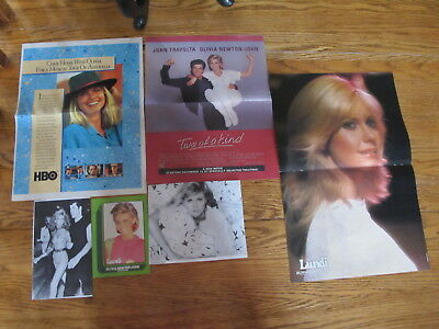 Vintage Olivia Newton John French Us Clippings,poster