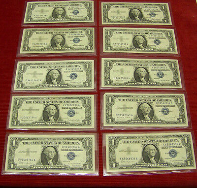 (30) 1957 $1 Silver Certificates - various #'s - XF