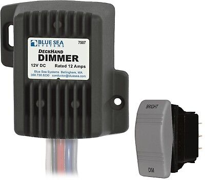 Marine Boat RV 12 Amp Digital Dimmer Deckhand Dimmer With Switch Blue Sea 7507