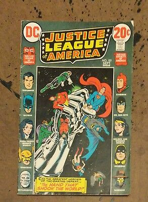 Justice League America #101 Cardy Wein Dillin DC Bronze Age Comic Book VG+  bx
