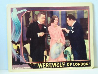 1935 WEREWOLF OF LONDON Lobby Card HENRY HULL VALERIE HOBSON WARNER OLAND