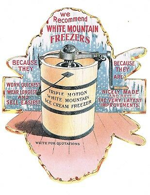 White Mountain Freezers early trade card