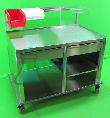 """Stainless Steel Mobile Laboratory Bench/Table with Drawers 33"""" X 52"""" X 48"""" #2"""