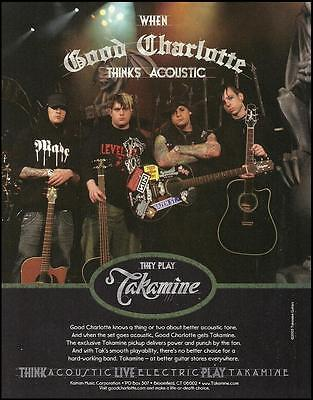 Good Charlotte band 2005 Takamine acoustic guitar ad 8 x 11 advertisement print