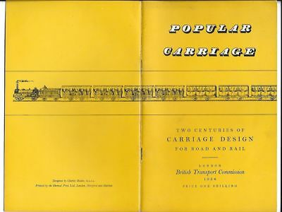 POPULAR CARRIAGE (design) Hamilton Ellis BRITISH TRANSPORT COMMISSION 1954