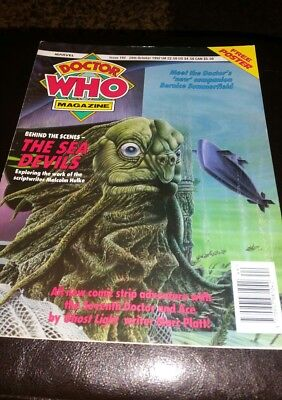 Doctor Who Magazine #192 1992 Vintage Sci Fi Rare + Poster