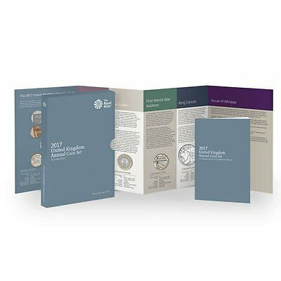 2017 United Kingdom UK Britain Royal Mint 13-Coin Annual Brilliant UNC BU Set