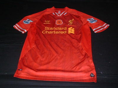 Liverpool England Football Large Mans Poppy Day Remembrance EPL Home Shirt