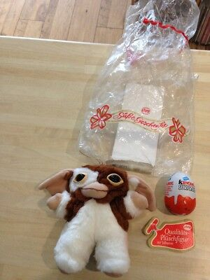 Rare Gizmo Gremlin - Kinder Egg Gift set by EBRA - Warner Bros 1994. RARE PLUSH.
