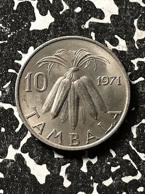 1971 Malawi 10 Tambala Lot#X2766 High Grade! Beautiful!